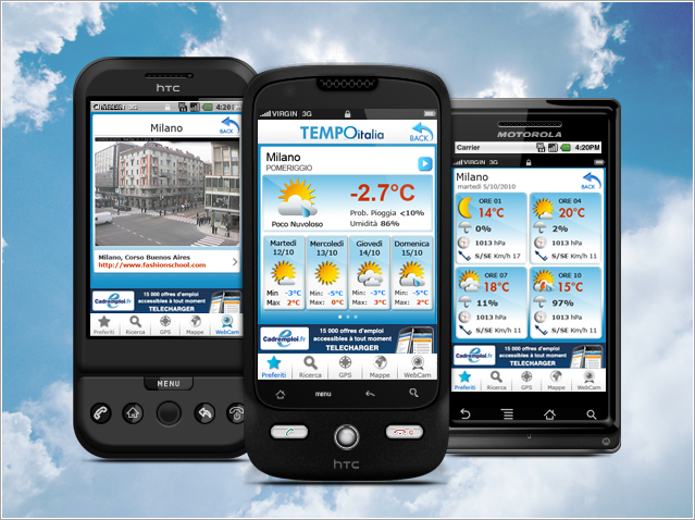 migliori applicazioni meteo per android fratellogeek. Black Bedroom Furniture Sets. Home Design Ideas