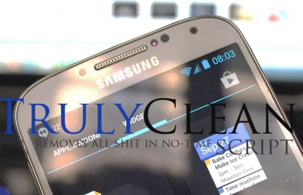 Truly Clean: Avere più memoria sul Samsung Galaxy S4